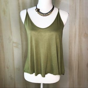 LUSH Tank Top Scoop Neck Size S